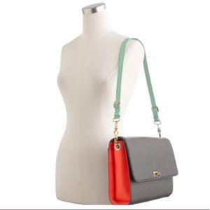EUC {J. Crew} colorblock edie purse